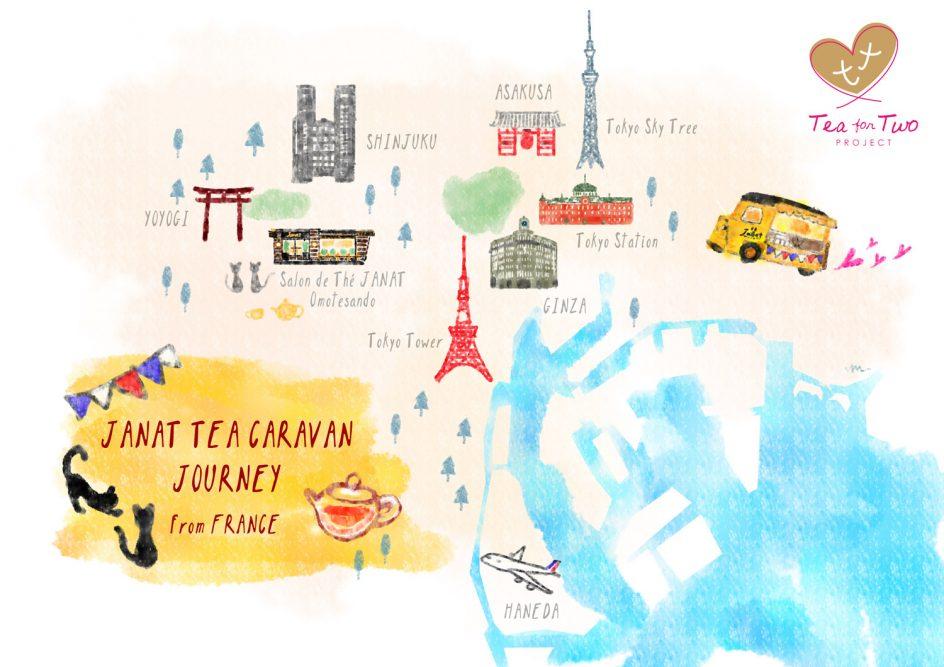 Tea for Two Caravan map